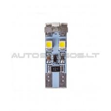 W5W T10 Canbus 3528 SMD 8 LED Lemputė