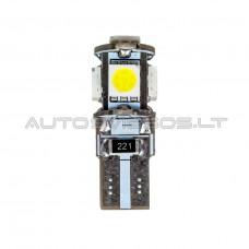 W5W T10 Canbus 5050 SMD 5 LED Lemputė